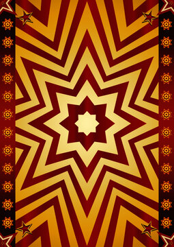Abstract red and gold poster. An abstract background for a poster for you !