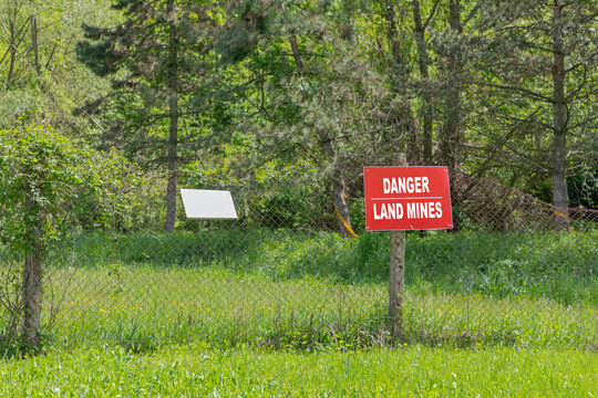 Danger Land Mines