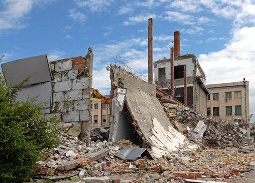 Demolition Old Factory