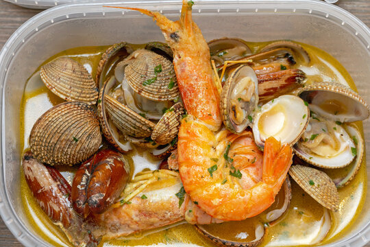 Seafood in Box