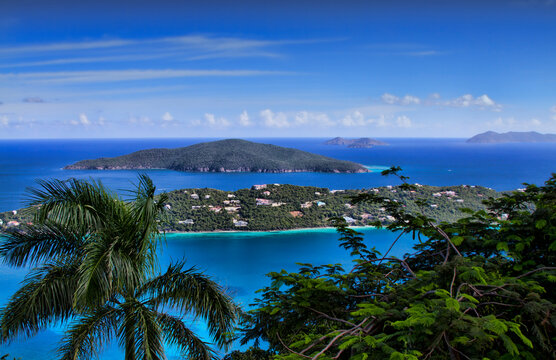 View of Atlantic Ocean and Magens Bay, St. Thomas.
