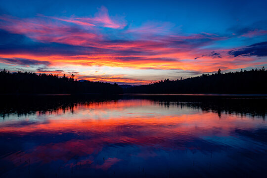 Sunset in the Adirondack Mountains