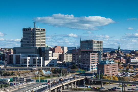 Canada, New Brunswick, Saint John. Skyline from Fort Howe.