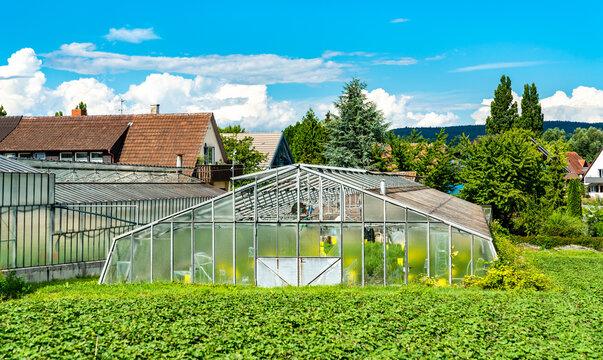 Greenhouse on Reichenau Island in Baden-Wuerttemberg, Germany