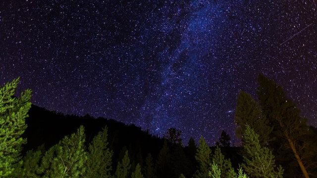 Meteor Shower (Aug 14th, 2020) Montana, U.S.A. somewhere near the Idaho border.
