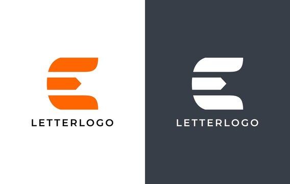 elegant letter E logo, good for sport apparel logo, technology logo etc