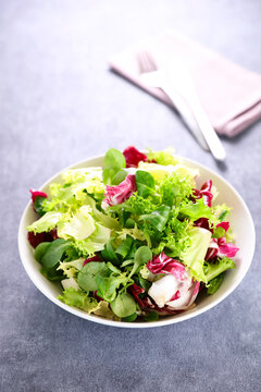 bowl of lettuce- mixed salad