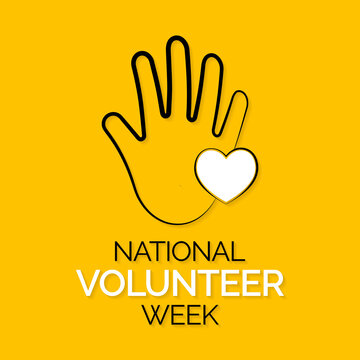 Vector illustration on the theme of National Volunteer week observed each year during third week of April.