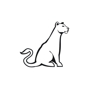 leoa female line zoo wild animal lioness line logo exclusive design inspiration