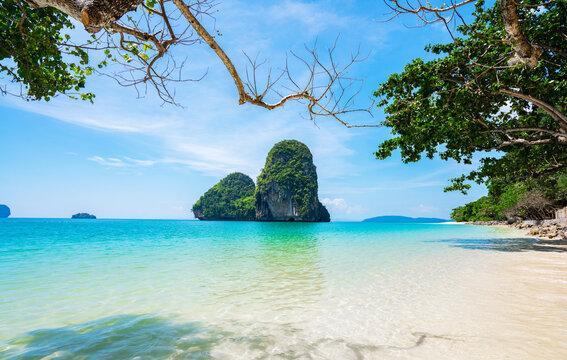 Phra Nang Cave Beach in Krabi, Thailand.