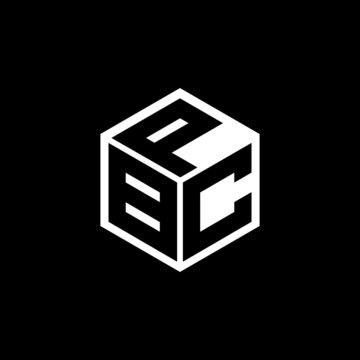 BCP letter logo design with black background in illustrator, vector logo modern alphabet font overlap style. calligraphy designs for logo, Poster, Invitation, etc.