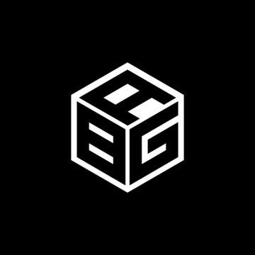 BGA letter logo design with black background in illustrator, vector logo modern alphabet font overlap style. calligraphy designs for logo, Poster, Invitation, etc. BCZ letter logo design with black ba