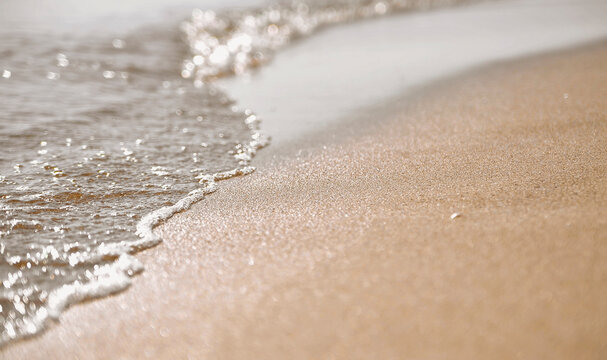 sand and waves on the beach