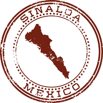 Sinaloa Mexico State Vintage Travel Rubber Stamp