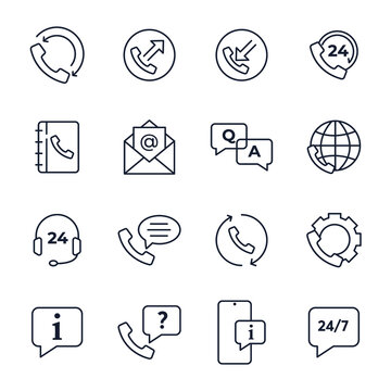 Set of Help and support icon. Online Help icon. Support service pack symbol template for graphic and web design collection logo vector illustration