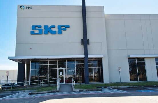 Houston, Texas USA 02-02-2020: SKF building exterior in Houston, TX. A manufacturing company for bearings, seals and maintenance products. Founded in 1907 Sweden it is located in 130 countries.