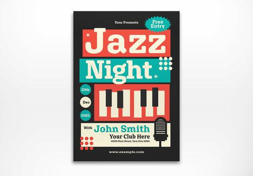Jazz Night Flyer Layout