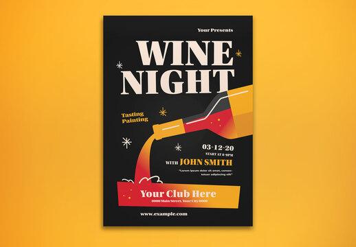 Wine Night Flyer Layout