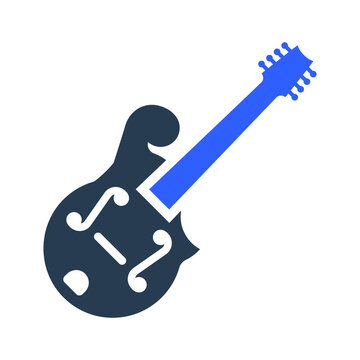 Mandolin musical instrument icon