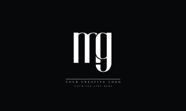 MG, GM, M, G abstract vector logo monogram template