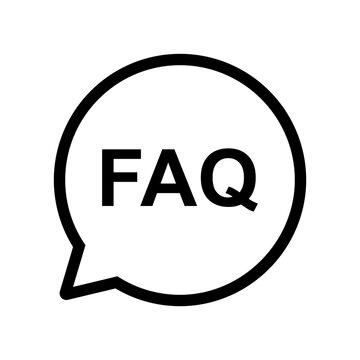 frequently asked questions icon vector