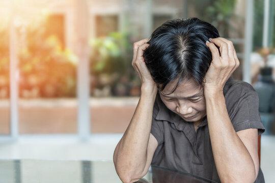 Dementia, Alzheimer's disease elderly senior patient (old aged women) with depression, mental stress illness, memory loss, schizophrenia, or cervical vertigo symptom