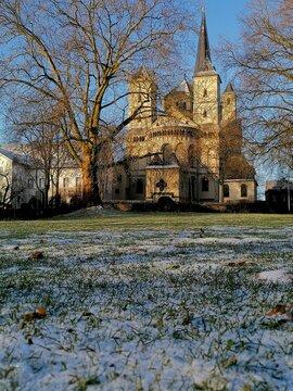 Abtei Brauweiler Ansicht im Winter