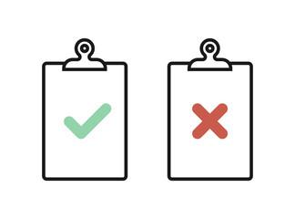 Fototapeta Clipboard icon set. Check mark. Check list. Vector illustration, flat design