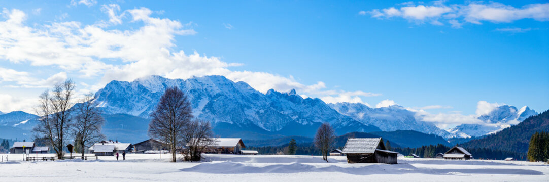 Karwendel and Wetterstein Mountains at Wallgau - Bavaria