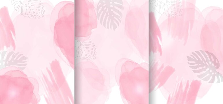 Light pink alcohol ink background collection. abstract fluid art painting design