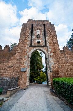 Porta Rocca Della Fortezza, city gate, Orvieto, Italy.