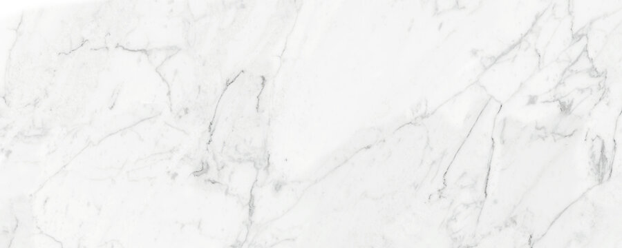 Carrara marble with a mixture of white color and natural cracks on the natural stone looks luxurious