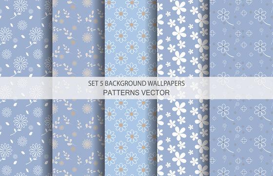 Set 5 Wallpaper Pastel Tones Pattern Vector