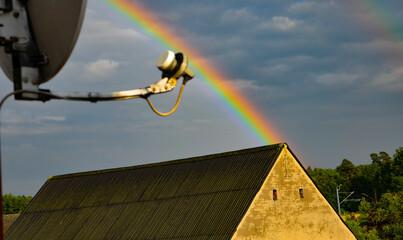 Fototapeta Tęcza nad domem