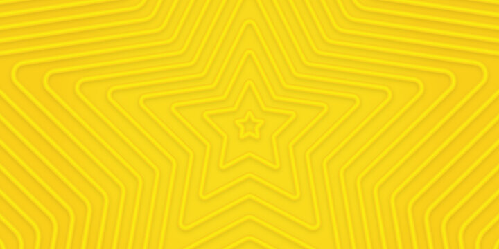 3d bright sunny yellow dynamic abstract rippled background. Modern lemon orange color. Fresh business banner for sales, event, holiday, party, birthday, falling.