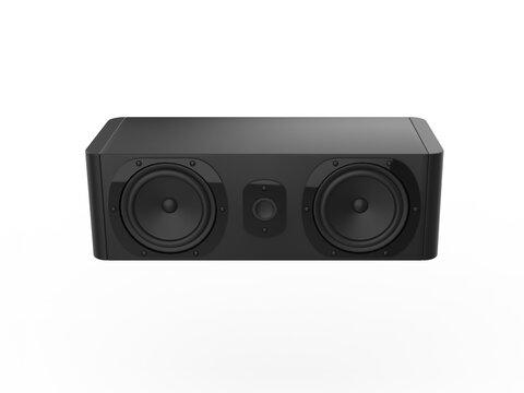 Horizontal black music loud speaker