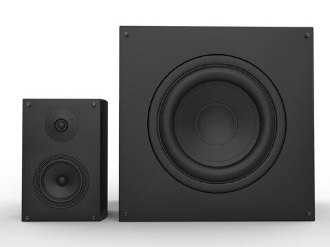 Large and medium modern music loud speakers