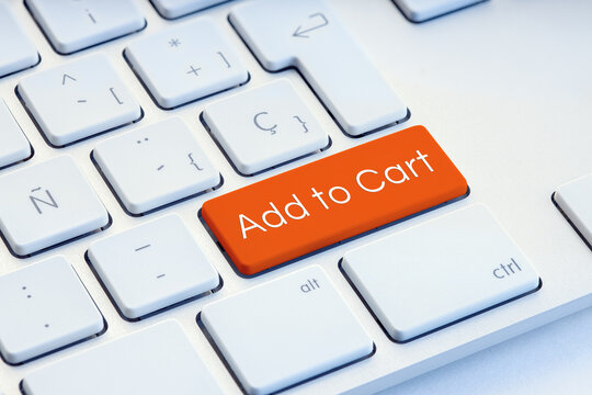 Add to cart orange on computer Keyboard Key