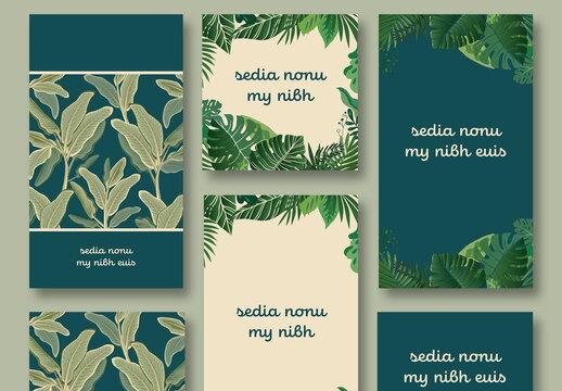 Plants Social Media Post Pattern Backgrounds