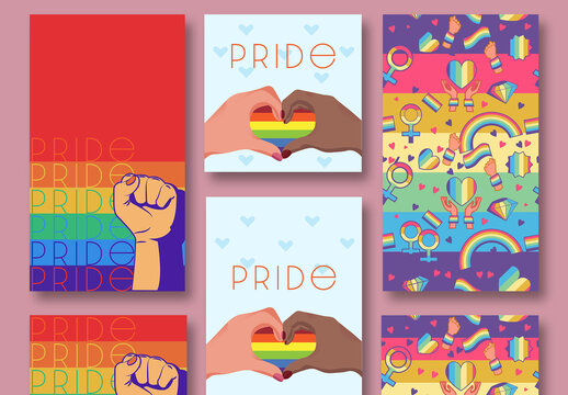 Pride Social Media Post Pattern Backgrounds