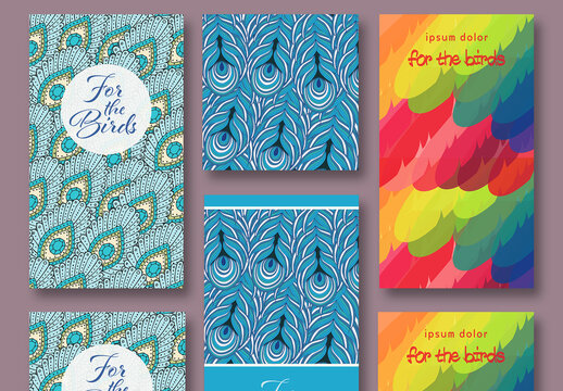 Feathers Social Media Post Pattern Backgrounds