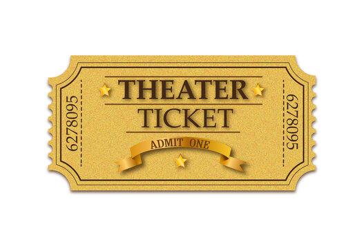 Theater ticket. Admit one ticket
