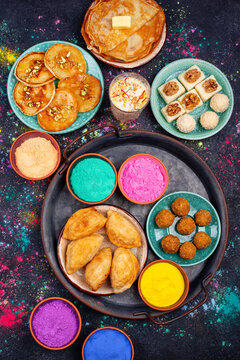 Traditional Indian Holi festival food