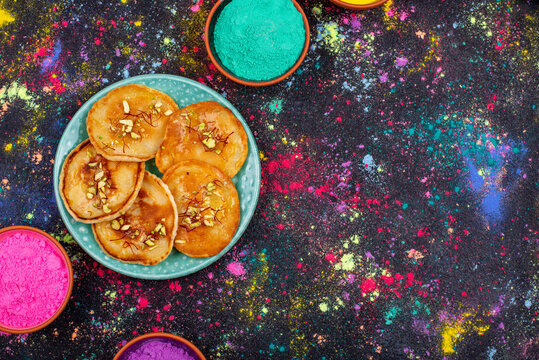 Traditional Indian Holi food malpua