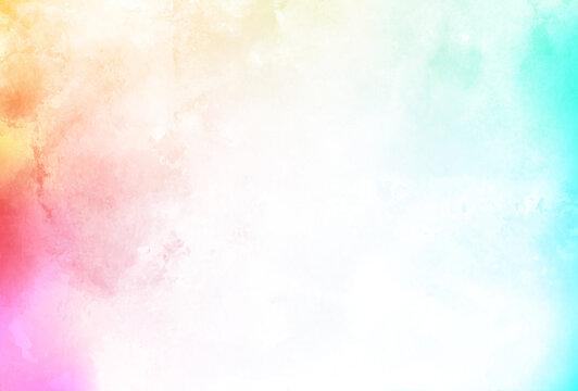 カラフル 水彩 和紙 背景