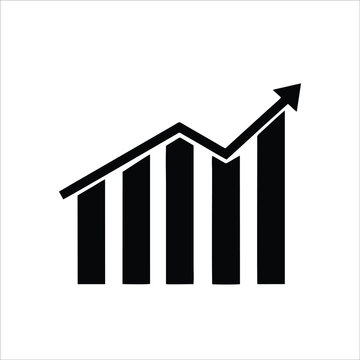 Bar chart icon isolated on white background from business collection. Trendy bar chart icons and modern Bar chart symbols for logos, web, apps, UI. Simple bar sign graph icon.