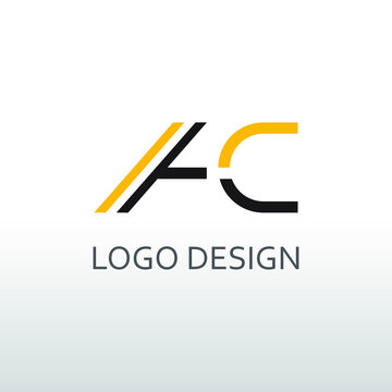 ac letter for simple logo design