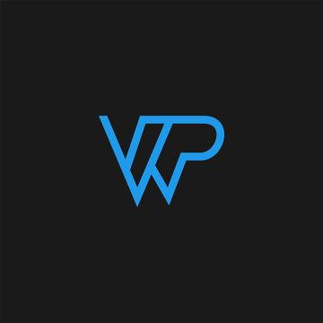 WP logo design vector template