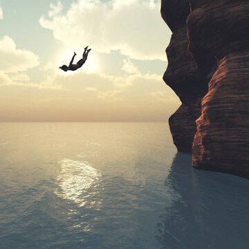 Jump in the sea