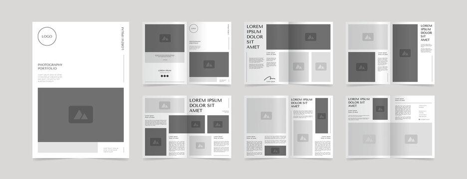 simple photography portfolio layout design template